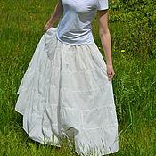 Одежда ручной работы. Ярмарка Мастеров - ручная работа Юбочка ярусами в пол молочная. Handmade.