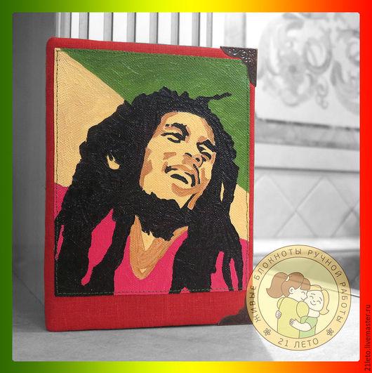 """Блокноты ручной работы. Ярмарка Мастеров - ручная работа. Купить Блокнот """"Bob Marley"""". Handmade. Комбинированный, блокнот ручной работы"""