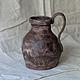 коричневый кувшин  декоративный кувшин  керамический кувшин  ваза для сухоцветов  кувшин под старину  авторский кувшин  кувшин купить ваза керамическая
