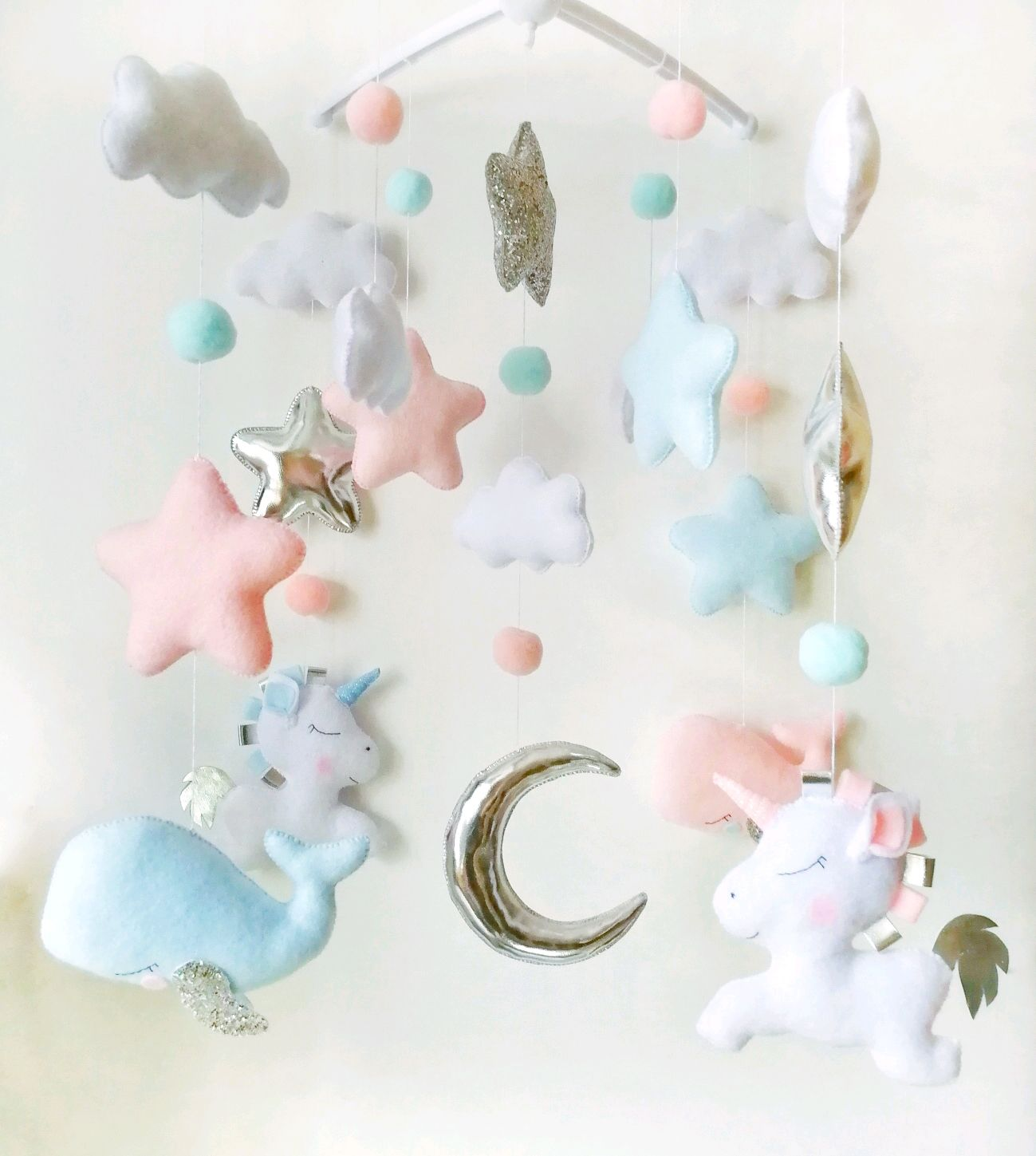 Mobile ' Unicorns and whales', Stuffed Toys, Moscow,  Фото №1