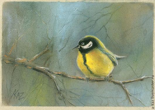 Животные ручной работы. Ярмарка Мастеров - ручная работа. Купить Птичка-синичка. Handmade. Комбинированный, сад, птица, птица на ветке