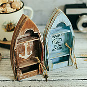 Декоративная мини-лодка