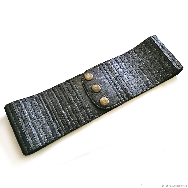 A leather belt elastic-based, Straps, Cheboksary,  Фото №1