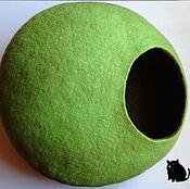 Для домашних животных, handmade. Livemaster - original item House for a cat (Green/Brown). Handmade.