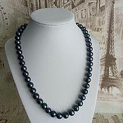 Украшения handmade. Livemaster - original item Beads black pearl. Handmade.