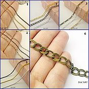 Материалы для творчества handmade. Livemaster - original item The chain metal in the bronze range. Handmade.