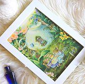 Картины и панно ручной работы. Ярмарка Мастеров - ручная работа Картина- панно.Сказочный мир... by Susan Wheeler. Handmade.