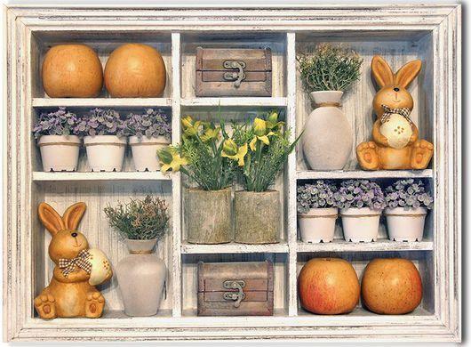 Интерьерное панно Пасхальные зайцы