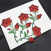 Материалы для творчества handmade. Livemaster - original item Matchless embroidered applique, rose. Handmade.