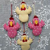 Куклы и игрушки ручной работы. Ярмарка Мастеров - ручная работа Курочки - символ года. Handmade.