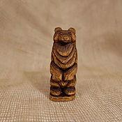 Русский стиль handmade. Livemaster - original item Bear. Figurine carved from wood. Handmade.
