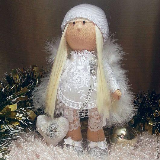 Куклы тыквоголовки ручной работы. Ярмарка Мастеров - ручная работа. Купить Рождественский ангел. Handmade. Белый, интерьерная кукла, ангел