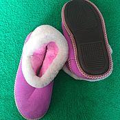 Обувь ручной работы handmade. Livemaster - original item chuni. Sheepskin fur. pink. Handmade.
