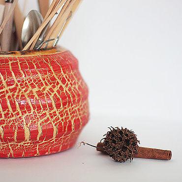 Канцелярские товары ручной работы. Ярмарка Мастеров - ручная работа Ваза шкатулка карандашница Я помню все твои трещинки. Handmade.