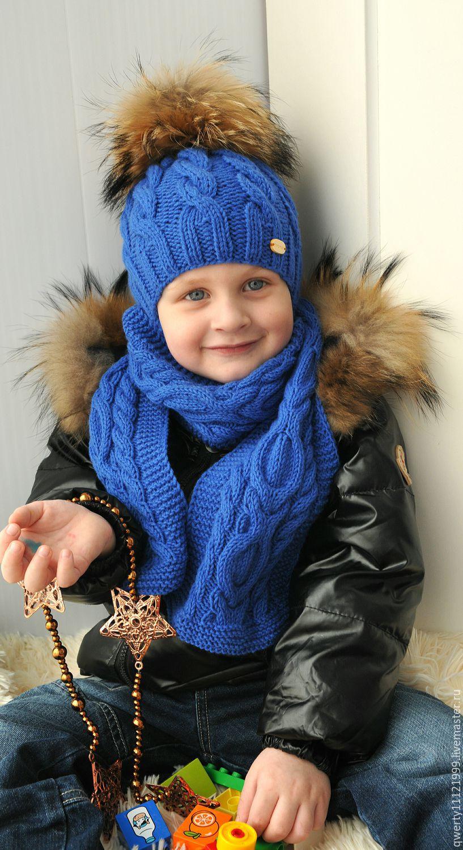 Вязание зимних шапок на мальчика