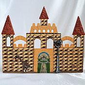 Для дома и интерьера handmade. Livemaster - original item Housekeeper wall Prague Castle cozy house gift hand painted. Handmade.