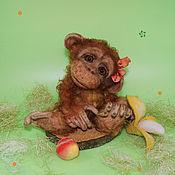 Куклы и игрушки ручной работы. Ярмарка Мастеров - ручная работа Обезьянка Веснушка. Handmade.