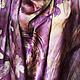 Шали, палантины ручной работы. Атласный платок  Вальс  цветов. Митрофанова Лариса (lora-al). Ярмарка Мастеров. Батик платок