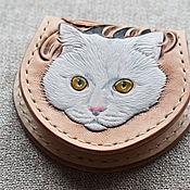 Сумки и аксессуары handmade. Livemaster - original item Coin box with kitty. Handmade.