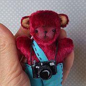Куклы и игрушки ручной работы. Ярмарка Мастеров - ручная работа Мишка -фотограф.. Handmade.