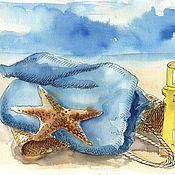 Картины и панно ручной работы. Ярмарка Мастеров - ручная работа Интерьерная картина На пляже. Handmade.