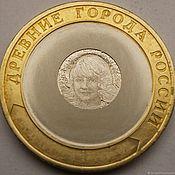 Souvenir coins handmade. Livemaster - original item 10 rubles, engraved coins custom, portrait of a girl.. Handmade.