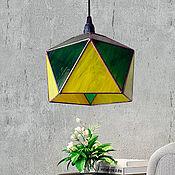 Для дома и интерьера handmade. Livemaster - original item Suspended stained glass Geometric Lamp Icosahedron. Handmade.