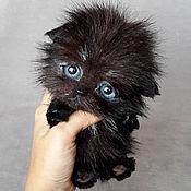 Куклы и игрушки ручной работы. Ярмарка Мастеров - ручная работа котенок тедди Шварц. Handmade.