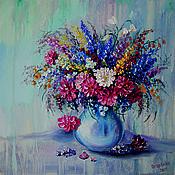 Картины ручной работы. Ярмарка Мастеров - ручная работа Натюрморт с цветами в вазе. Handmade.