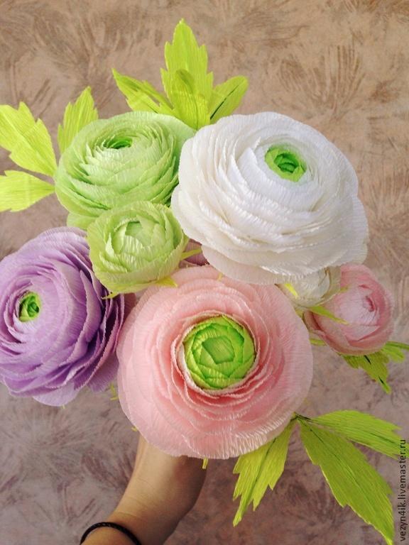 Букет из бумажных цветов своими руками мастер класс