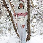 Одежда ручной работы. Ярмарка Мастеров - ручная работа Костюм вязаный спортивный White. Handmade.