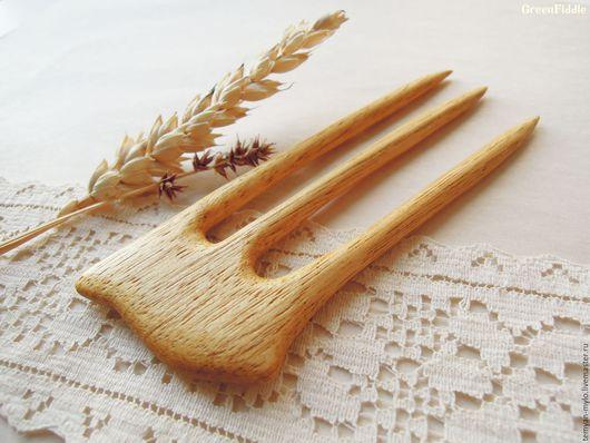 Заколки ручной работы. Ярмарка Мастеров - ручная работа. Купить Заколка деревянная резная, чен чен. Handmade. Заколка для волос