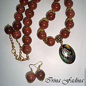 Украшения handmade. Livemaster - original item A set of aventurine necklace earrings
