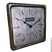 Для дома и интерьера handmade. Livemaster - original item A wall clock. Old white beech. Time.. Handmade.