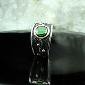 Украшения handmade. Livemaster - original item Maikor ring with jade made of 925 sterling silver. Handmade.