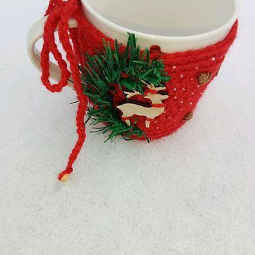 Посуда ручной работы. Ярмарка Мастеров - ручная работа Кружка в свитере. Handmade.