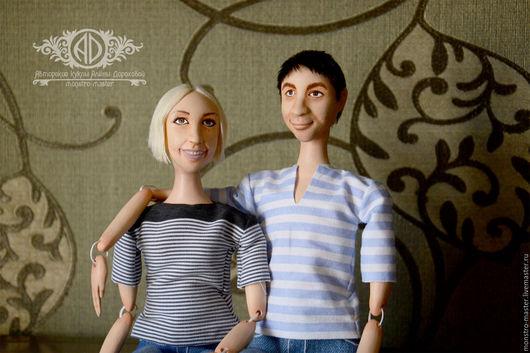 Портретные куклы ручной работы. Ярмарка Мастеров - ручная работа. Купить Портретные куклы-болтушки. Handmade. Бежевый, портрет по фото