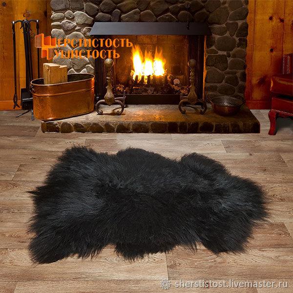 Шкура овечья черная с серым отливом, пушистая, Ковры, Нальчик, Фото №1
