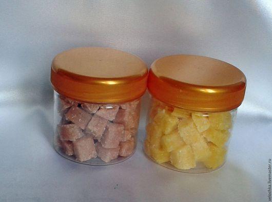 """Скраб ручной работы. Ярмарка Мастеров - ручная работа. Купить Скраб для тела """"Сахарные кубики"""", наполненный Любовью. Handmade. Желтый"""
