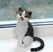 handmade. Livemaster - original item Cat Bonya. Felted interior toy is made of wool. Handmade.
