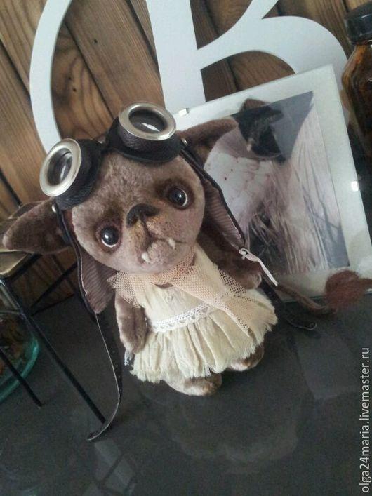 Мишки Тедди ручной работы. Ярмарка Мастеров - ручная работа. Купить Летучая мышка Буся. Handmade. Серый, домовушка