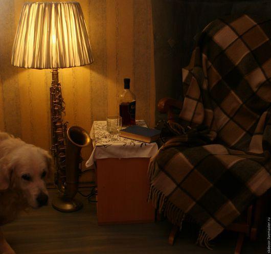 Освещение ручной работы. Ярмарка Мастеров - ручная работа. Купить Напольная лампа саксофон. Handmade. Напольная лампа, медь