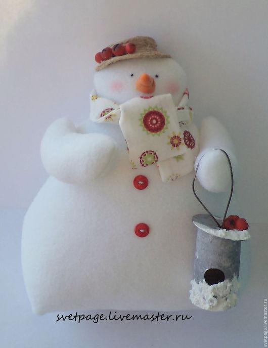 Новый год 2017 ручной работы. Ярмарка Мастеров - ручная работа. Купить Снеговушки и снеговики / тильда. Handmade. Белый, снеговичок