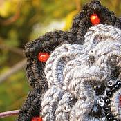 Украшения ручной работы. Ярмарка Мастеров - ручная работа Украшение для волос Пыльный цветок на закате. Handmade.