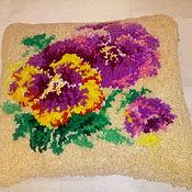 """Подушки ручной работы. Ярмарка Мастеров - ручная работа Подушка """"Цветы"""". Handmade."""