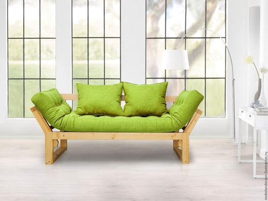 Мебель ручной работы. Ярмарка Мастеров - ручная работа. Купить Диван Amber. Handmade. Мебель из сосны, диван, ярко-зелёный