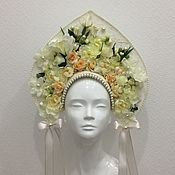 Русский стиль handmade. Livemaster - original item The headdress of flowers. Handmade.
