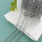 Материалы для творчества handmade. Livemaster - original item 1 m Chain 5x3.5x0.6. 5637 mm steel (). Handmade.
