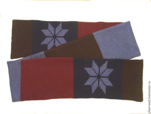 Шарфы и шарфики ручной работы. Ярмарка Мастеров - ручная работа. Купить Шарф мужской вязаный. Handmade. Комбинированный, шарф для мужчины