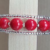 Сувениры и подарки handmade. Livemaster - original item Coral bracelet on memory. Handmade.